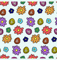 colorful spring flower pattern vector image vector image