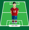Computer game South Korea Soccer club player vector image vector image