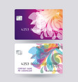 credit card bright design with shadow detailed vector image