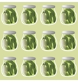 cucumber pattern vector image vector image