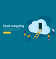 door to innovation cloud computing group of vector image