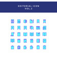 editorial filled outline icon set vol2 vector image vector image