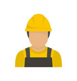 factory worker icon flat style vector image vector image