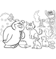 forest animals for coloring vector image vector image