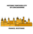 france occitanie - historic fortified city of vector image vector image
