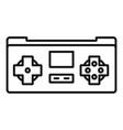 gaming controller icon outline style vector image vector image