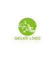 gecko green logo symbol vector image vector image