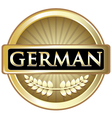 German Gold Label vector image