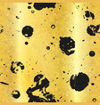 gold seamless texture with black drops vector image
