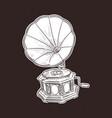 gramophone- vintage hand drawn llustration vector image vector image