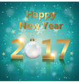 Greeting card for new 2017 year vector image