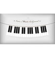 Hanging piano keyboard with place for your text vector image