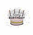 happy birthday lettering handwritten with elegant vector image