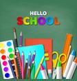 hello school typography design vector image