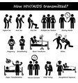 how hiv aids spread transmitted transmission vector image