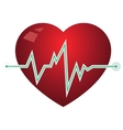 Icon heart with pulse graph vector image