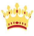 icon with royal crown vector image