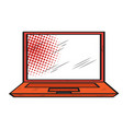 isolated retro laptop icon vector image
