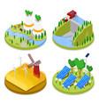isometric ecology concept renewable energy vector image vector image