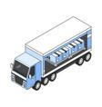 isometric trailer vector image