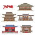 japan buildings architecture japanese temples vector image vector image