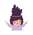 little chubby girl character vector image
