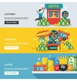 Lottery Banner Set vector image vector image