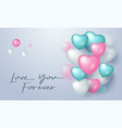 love you forever design for greeting card with vector image vector image