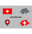 Map of Switzerland and symbol vector image
