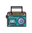radio equipment to listen music with cassette vector image vector image
