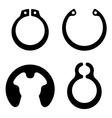 retaining snap ring circlip symbol vector image vector image