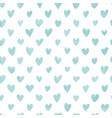 seamless hand drawn hearts pattern in blue vector image