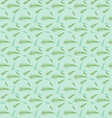 Seamless leaf pattern set vector image