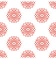 seamless pattern with red mandala floral geometric vector image vector image