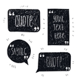 set hand drawn quote bubbles space vector image