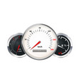 set of car dashboard elements speedometer vector image vector image