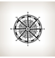 Silhouette compass rose on a light background vector image
