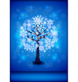 Snowflakes tree background vector image vector image