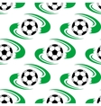 Soccer ball or football seamless pattern vector image