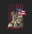 soldier kneel for the fallen vector image