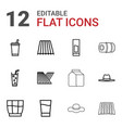straw icons vector image vector image