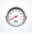 tachometer isolated vector image
