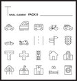 Travel Element Line Icon Set 9City and urban vector image