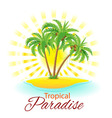 Tropical scene vector image vector image