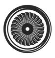 turbine black icon electricity symbol vector image vector image