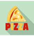 unhealthy pizza slice logo flat style vector image