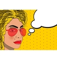 Upset thoughtful woman vector image vector image