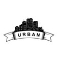 urban logo template city skyline silhouette vector image