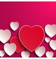 Valentines Day Abstract Paper Hearts vector image vector image