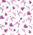 Valentines day Romantic Hearts Seamless Pattern vector image